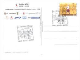 ITALIA - 2008 CARPI (MO) Dorando Pietri Da Ciclista A Maratoneta Su Cartolina Speciale