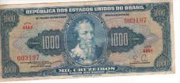 Brasil 1000 Cruzeiros Nota N-d Circulé 1€€€€€€€€€€€€€€€€€€€€€€€€€€€€€€€€€€€€€€€€€ - Brazilië
