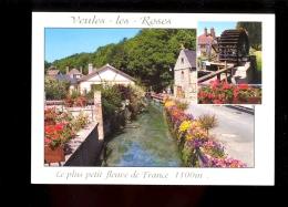 VEULES LES ROSES Seine Maritime 76 : Le Plus Petit Fleuve De France 1100m Et Le Moulin Anquetil ( Water Mill Mühle - Veules Les Roses
