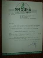 Facture MARSEILLE : Raffinerie Moderne SIGOLINE, Huile D'olive - 1938 ............... BQ33 - 1900 – 1949