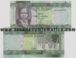 SOUTH SUDAN  /  SUDAN DEL SUR  1 Pound  2.011   SC / UNC     DL-10.041alemania - Sudan