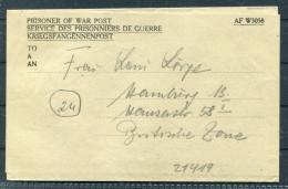 1947 Germany Kriegsgefangenenpost  - Prisoner Of War Lettercard - POW Hospital Italy - 1939-45