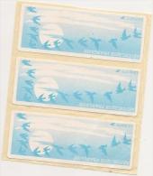 Bansde Trois ATM-LISA Papier Oiseau Vignette Vierge (550 ) - 1990 «Oiseaux De Jubert»