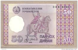 Tagikistan - Banconota Non Circolata Da 50 Dirams - 1999 - Tagikistan