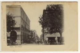 BLIDA  -  La Rue D'Alger, Arrivée De La Diligence  -  Ed. Brun & Cie, N° 662 - Blida