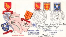 8° Salon Philatelique D´Automme. First Day Cover 11 Nov. 1954 - 1950-1959