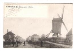Lichtervelde : Doorgang Van De Statie . ( Molen - Windmolen - Moulin )  . Staat : Zeer Goed . Mooie Kaart . - Lichtervelde