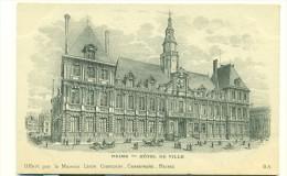 PUBLICITE/ REIMS - Hôtel De Ville - Carte Offerte Par La Maison LEON CHANDON - CHAMPAGNE + Vue D'une Cave à Pupitres - Werbepostkarten