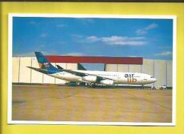 Carte Postale  AVION AIRBUS A340 F.GLZF Dans Sa Nouvelle Livrée AIR LIB (Cie Aérienne Fusion AIR LIBERTE  Et AOM )  ORLY - Fotos