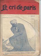 Revue Le Cri De Paris N°1218- 24 ème Année : Le Penseur, Par René REB Et Texte De Pierre De Trévières - Books, Magazines, Comics