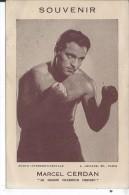 Souvenir De MARCEL CERDAN - Boxing
