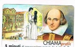 CHIAMAGRATIS - 120 PERSONAGGI PER IL PROGRESSO DELL' UMANITA'(63):  WILLIAM SHAKESPEARE     - NUOVA  (RIF.CP) - Italy