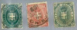 Italie Y&t N°40.56.57. Oblitéré - 1878-00 Umberto I
