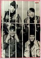 Kleines Musik Poster  -  Band The Monkees 1966  -  Rückseite : Muppets-Show Kermit -  Von Bravo Ca. 1982 - Plakate & Poster