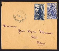 1951 Lettre De Ayos Pour Ebolowa Yv 288, 290 - Cameroun (1915-1959)
