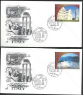 UN-Geneva. Scott # 400-01 FDC. World Heritage. Joint Issue With Italy 2002 - Joint Issues