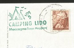 MACCAGNO Camping LIDO Lago Maggiore Lombardia Varese 1968 - Varese