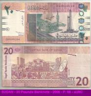 SUDAN - 20 Pounds Banknote - 2006 - P. 68 - AUNC - Soudan