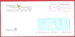 "ITALIA REPUBBLICA - EMA - AFFRANCATURA MECCANICA ROSSA SU BUSTA ""FOREVER LIVING PRODUCTS"" - € 0,70 - 03 - 07 - 2013 - Affrancature Meccaniche Rosse (EMA)"