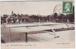50. COUTAINVILLE. LES TENNIS. ANIMATION. - France