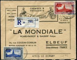 """LAOS - N° 10 + 11, OBL. LUANG PRABANG LE 5/10/1955, SUR LR POUR ELBEUF, AVEC CS """" APRES LE DEPART """" - TB - Laos"""