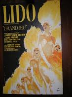 - Carton Publicitaire Du LIDO, Signé GRUAU 38cm X 57cm. - Plaques En Carton