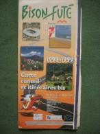 Carte Itinéraires BISON FUTE 98/99 - Transports