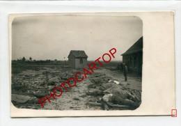 EXTERNEST-Cadavres De Soldats-Carte Photo Allemande-Guerre 14-18-1WK-BELGIQUE-BELGIE N-Flandern- - Ieper