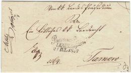 05048 RECOMMANDIRT LEMBERG 21 IUL 1838 Sur Lettre Ex-offo Vers Tarnow - Ukraine