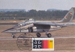 D13276 CARTE MAXIMUM CARD 1985 GERMANY - BUNDESWEHR MILITAIRY AIRPLANE CP ORIGINAL - Aviones