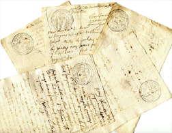 Généralité De PROVENCE (TOULON) =LOT De 5 Petits Papiers(1750) - Cachets Généralité