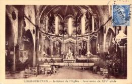 81 LISLE SUR TARN INTERIEUR DE L EGLISE SANCTUAIRE DU XIV SIECLE - Lisle Sur Tarn