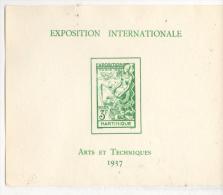 Fra434 Foglietto, Block, Feuillet Martinique, Expo Internationale Arts, Techniques Paris 1937 - 1937 Exposition Internationale De Paris