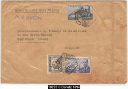 10228 TANGER 1954 Commercial Sample Muestra Sin Valor Envelope To Belgium - Maroc (1956-...)