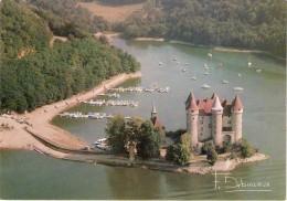 Cpm Photo Francis Debaisieux, Château Du Val Sur La Retenue Du Barrage De Bort,  (23.10) - France