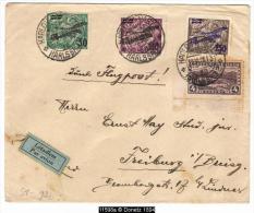 11598 By Plane Karlsbad To Freiburg  23/06/1928 - Briefe U. Dokumente