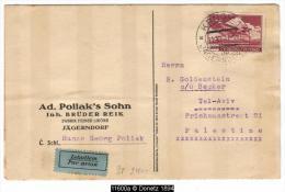 11600 INCOMING MAIL TEL AVIV From Prag Krnov  By Plane 11/11/1937 - Briefe U. Dokumente