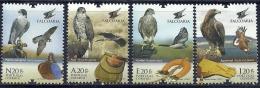Portugal 2013 Falcoaria Fauconnerie Falconry Birds Of Prey Falcon Goshawk Sparrowhawk Golden Eagle Set Or 4 - Arends & Roofvogels