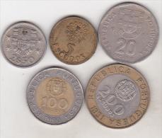 Portugal - 5 Coins Set - Portugal