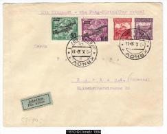 11610 By Plane From Krnov To Zurich Via Prag 09/10/1930 - Briefe U. Dokumente