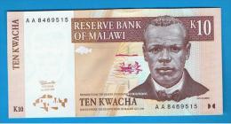 MALAWI -  10 Kwacha  1997 SC  P-37 - Malawi