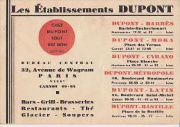 Restaurant: Les établissements Dupont - Restaurants