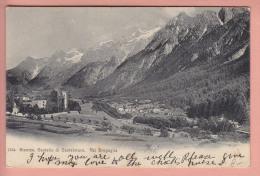 OUDE POSTKAART ZWITSERLAND SCHWEIZ GRAUBUNDEN STAMPA VAL BREGAGLIA  1906 - GR Grisons