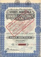 """Union Agricole, Chimique Et Electrique """"UNAC"""" - Jodoigne -1929 - Agriculture"""