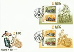 nig13413cF Niger 2013 Motorcycles Motorbike 2 s/s Actor James Dean Marilyn Monroe