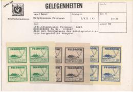 Fra439 Vignette Propaganda Militare Terzo Third Reich, Air Force, 1941 Ostpreussen Feldpost LGPA Konigsberg L34662, MNH - Germany