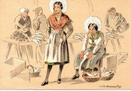 -62- BOULOGNE SUR MER  : BARRE DAYEZ Signée BONNEFOY : LES MATELOTES à La Criée Aux Poissons - Boulogne Sur Mer