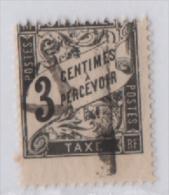 Fra437 France, Taxe, 1881, Type DUVAL, Yvert N. 12, 3 Cents Noir, A Percevoir, Decentrato - Taxes