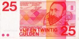 Netherland, 25 Gulden,1971,P.92a,10 Digit Serial #,see Scan - [2] 1815-… : Kingdom Of The Netherlands