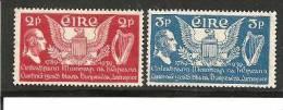 Irl Mi.Nr.69-70/  IRLAND -  US Verfassung (Harfe Etc.) 1938 ** MNH - Unused Stamps